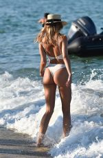 Kimberley Garner On the beach in St. Tropez