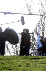 Kit Harington & Gemma Chan On the set of