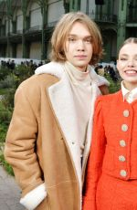 Kristine Froseth At Chanel show, Front Row, Paris, France