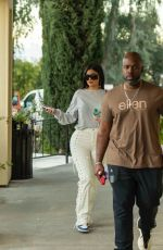 Kylie Jenner Seen enjoying lunch with Corey Gamble at Blue Table in Calabasas