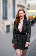 Larsen Thompson Out and about during Paris Fashion Week