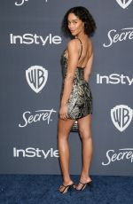 Laura Harrier At The 2020 InStyle And Warner Bros. 77th Annual Golden Globe Awards Post-Party at The Beverly Hilton Hotel in Beverly Hills