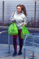 Lauren Goodger Seen for the first time since being taken into hospital on Boxing Day