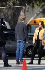 Leighton Meester Spotted on the set of her hit show