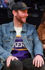 Lily Collins At Cleveland Cavaliers vs Los Angeles Lakers at Staples Center in LA