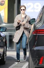 Lily Collins Leaving a massage therapy in Hollywood