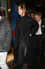 Lily James Arriving at the re-opening of