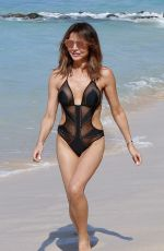 Lizzie Cundy On holiday On the beach in Barbados