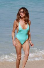 Lizzie Cundy Seen on the beach in Barbados