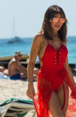 Lizzie Cundy Spotted on the beach in Barbados