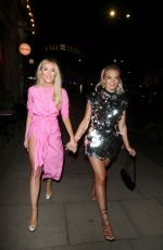 Louisa Johnson Seen arriving at a birthday party in London