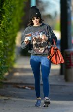 Lucy Hale Getting coffee in LA
