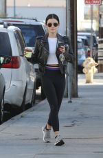 Lucy Hale Going to the gym in Studio City