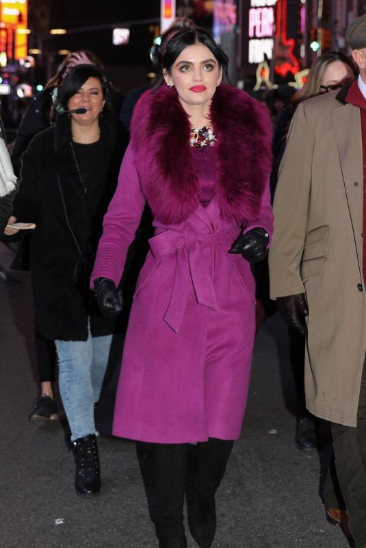 Lucy Hale Spotted in Times Square in New York City