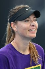 Maria Sharapova At 2020 Brisbane International Previews in Brisbane, Queensland, Australia