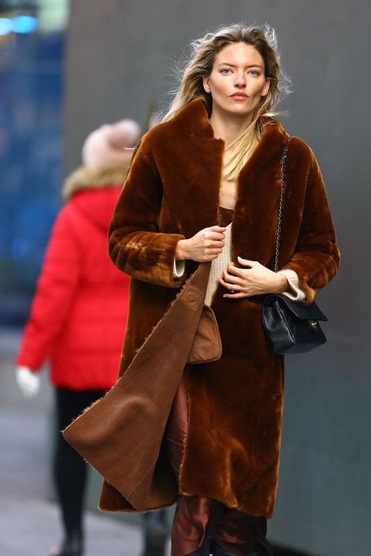 Martha Hunt At Opening bell of the Nasdaq for New York Fashion Week