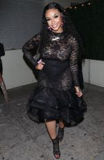 Masika Kalysha As she is spotted leaving a New Year party
