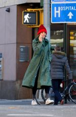 Maya Hawke Is all bundled up for the cold weather after leaving a Downtown gym in NYC