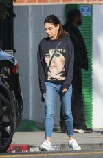 Mila Kunis Seen out on a solo coffee run in Beverly Hills