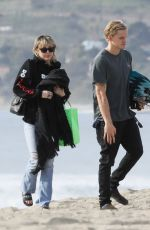 Miley Cyrus and Cody Simpson spend the morning at Malibu beach