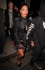Nicole Scherzinger Leaving the Warner Music Group Pre-Grammy Party in Hollywood