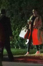 Nina Dobrev Leaves a house in the middle of the night in Beverly Hills