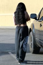 Noah Cyrus Seen grabbing lunch to-go with a friend at Joan
