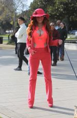 Phoebe Price Out shopping in Beverly Hills
