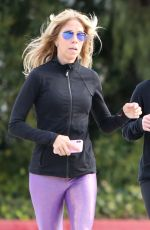 Reese Whiterspoon Steps out for her morning jog with a friend in Brentwood