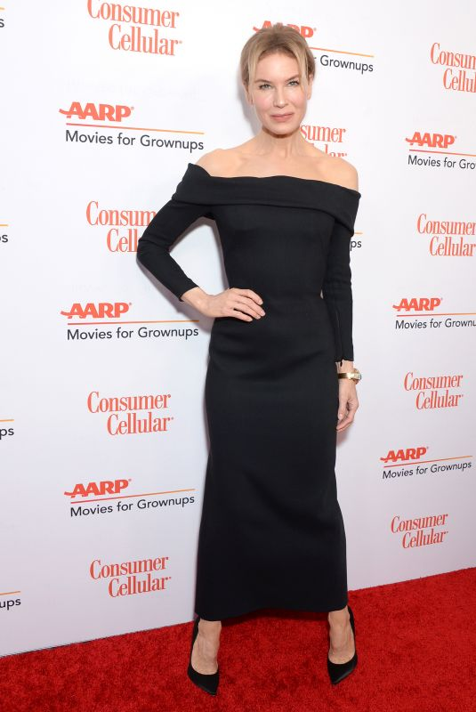 Renee Zellweger At 19th Annual AARP Movies for Grownups Awards at Beverly Wilshire Hotel, Beverly Hills