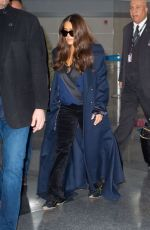 Salma Hayek Spotted touching down in New York City,