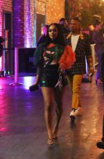 """Saweetie Looks sexy in mini dress leaving a """"Birds of Prey"""" Special Event at the Dream Hotel to celebrate her new soundtrack in the upcoming movie in Los Angeles"""