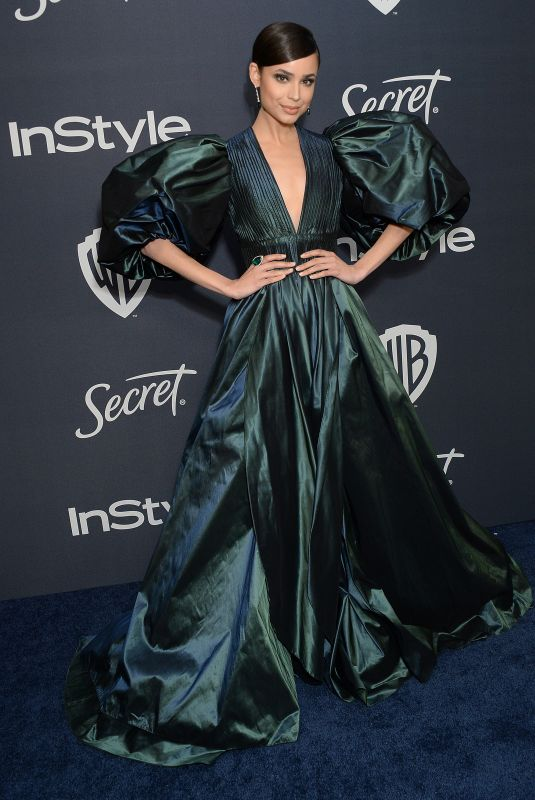 Sofia Carson At InStyle and Warner Bros Golden Globes Party in Beverly Hills