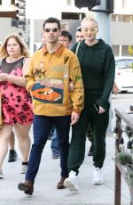 Sophie Turner & Joe Jonas Walk arm in arm as they step out for a lunch date at Wally