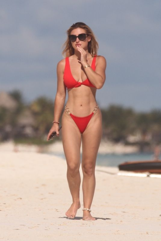 Stefanie Knight Seen on the beach in Tulum, Mexico