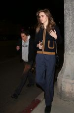 Suki Waterhouse Out for dinner in Beverly Hills