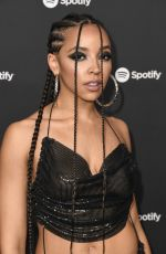 Tinashe At Spotify Best New Artist 2020 Party at The Lot Studios in West Hollywood