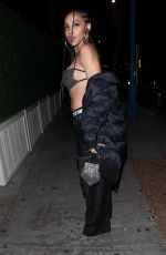 Tinashe Shows off her toned abs while leaving night club Delilah in West Hollywood