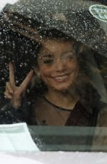 Vanessa Hudgens Arrives for the filiming of The Princess Switch: Switched Again in Glasgow