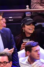 Vanessa Hudgens At Los Angeles Lakers vs New York Knicks at Madison Square Garden in NY