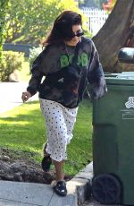 Vanessa Hudgens Taking out the trash in Studio City