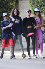 Victoria Justice & Madison Reed Leaving Fryman Canyon in Studio City