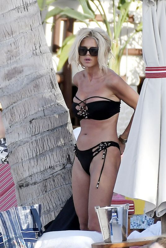 Victoria Silvstedt At a Beach in St Barths