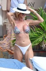 Victoria Silvstedt Lounging in St. Barts