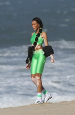 Winnie Harlow On the set of a photoshoot in Los Angeles