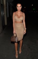 Yazmin Oukhellou , Amber Turner , Madison Brown seen at Roka Charlotte street for a girls night out
