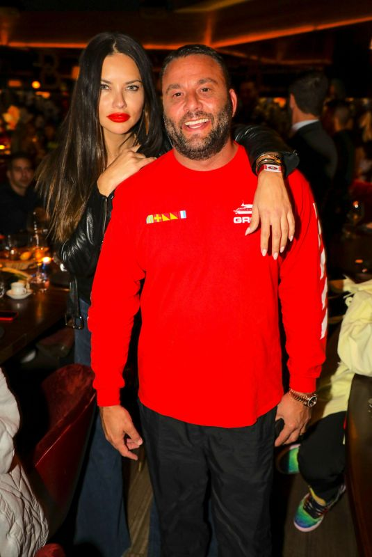Adriana Lima At Belvedere Private Dinner Party at Papi Steak, Miami, Florida