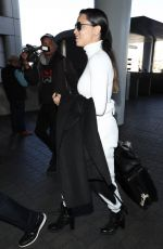 Adriana Lima Is seen at LAX Airport in Los Angeles