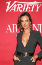 Alessandra Ambrosio At Variety x Armani Makeup Artistry Dinner, Sunset Tower, Los Angeles