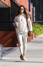Alessandra Ambrosio Keeps it comfy while arriving at a pilates studio in Los Angeles